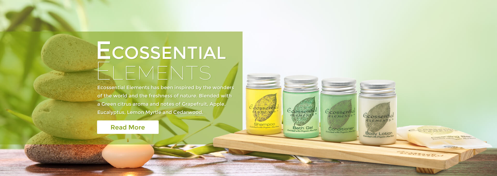Eco essentials mini toiletries