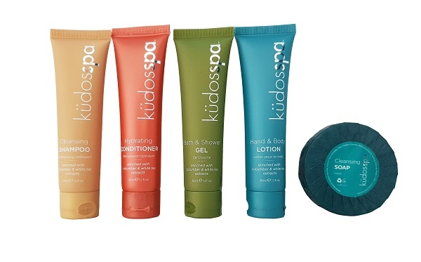 kudos spa samples mini toiletries