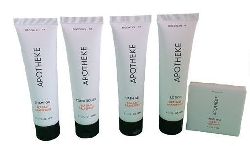 apotheke samples mini toiletries