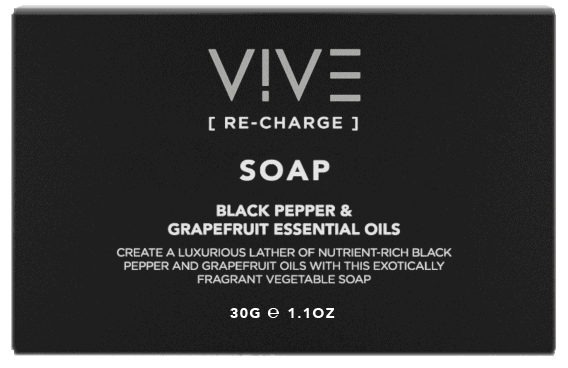 vive recharge 30g boxed soap